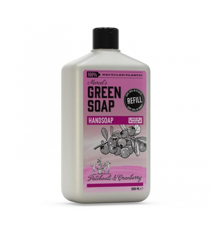 Marcels Green Soap | Handzeep navulling Patchouli & Cranberry
