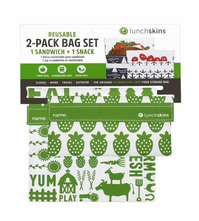 Lunchskins | Bag set 2st. Velcro